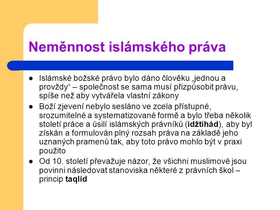 Neměnnost islámského práva