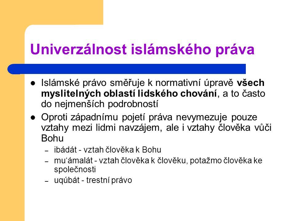 Univerzálnost islámského práva