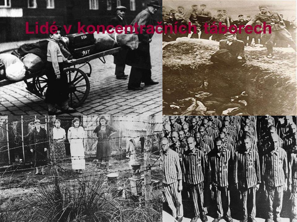 Lidé v koncentračních táborech