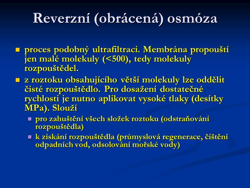 Reverzní (obrácená) osmóza
