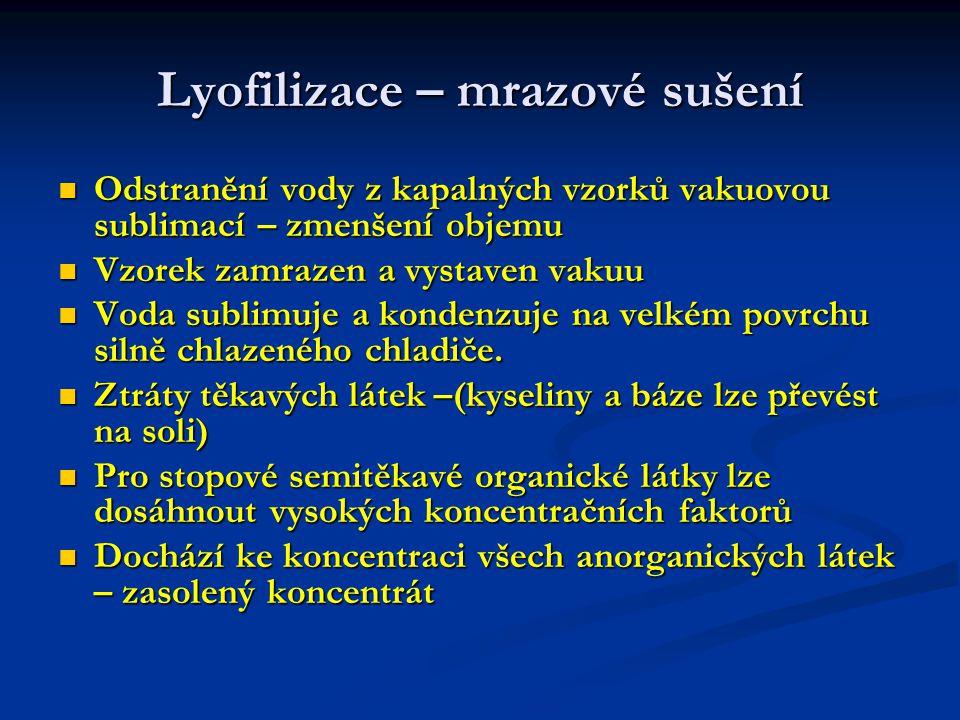 Lyofilizace – mrazové sušení