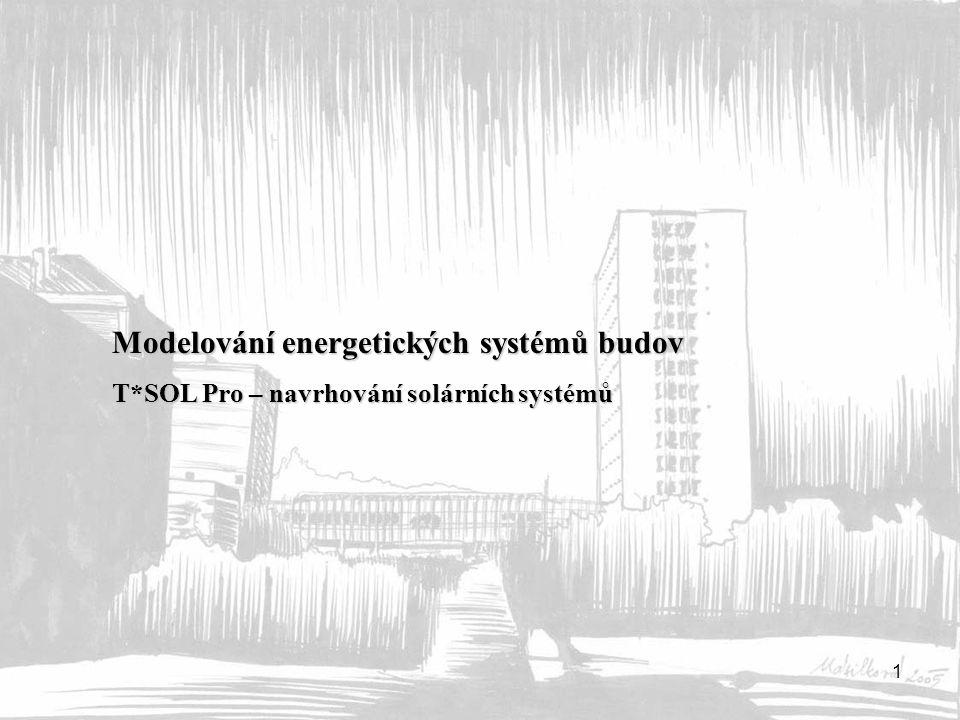 Modelování energetických systémů budov