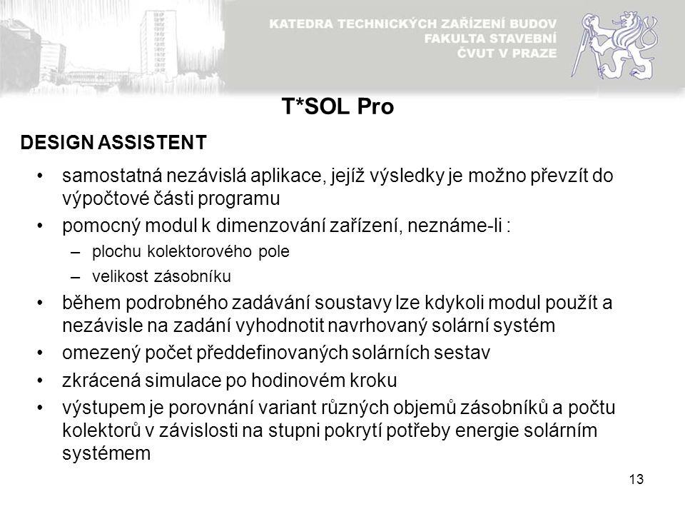 T*SOL Pro DESIGN ASSISTENT
