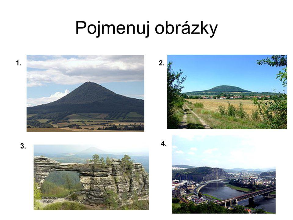 Pojmenuj obrázky 1. 2. 4. 3.