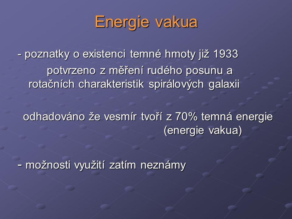 Energie vakua - možnosti využití zatím neznámy