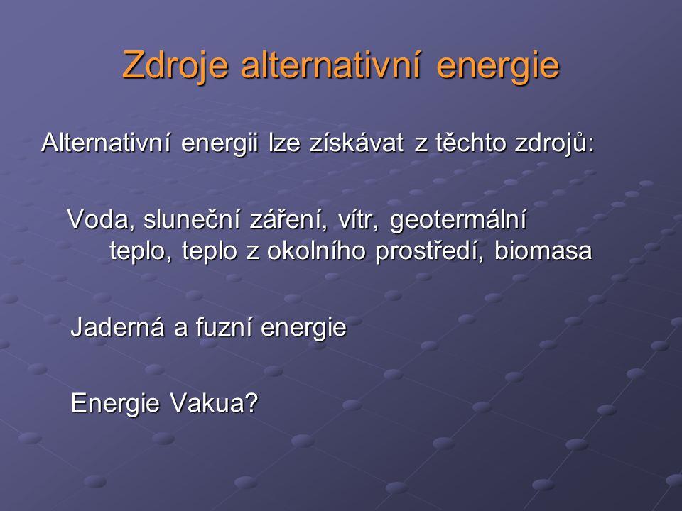 Zdroje alternativní energie