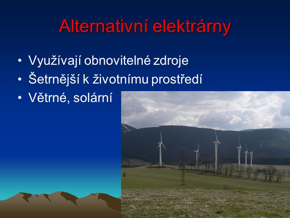 Alternativní elektrárny