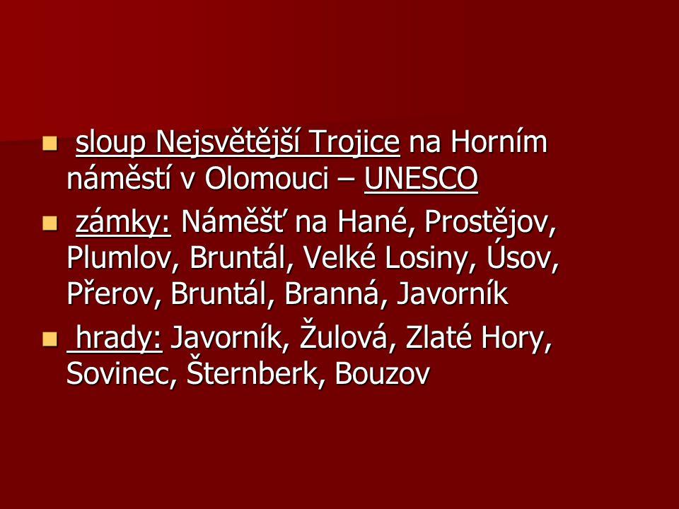 sloup Nejsvětější Trojice na Horním náměstí v Olomouci – UNESCO