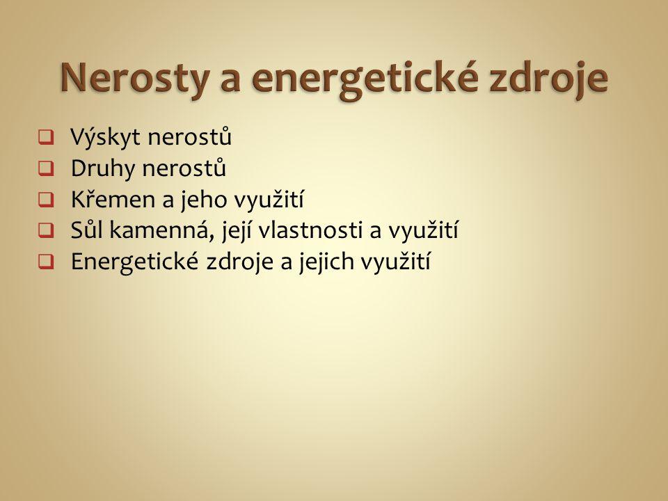 Nerosty a energetické zdroje