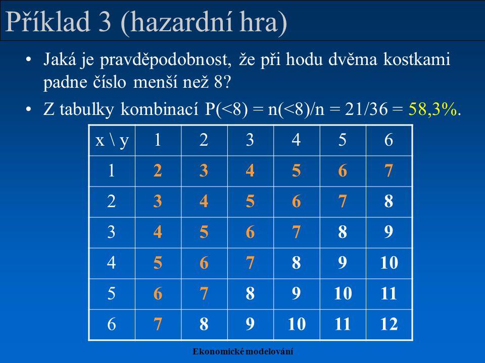 Příklad 3 (hazardní hra)