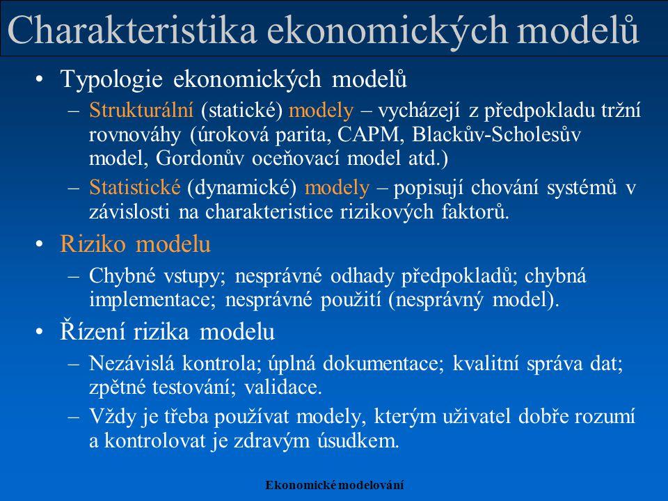 Charakteristika ekonomických modelů