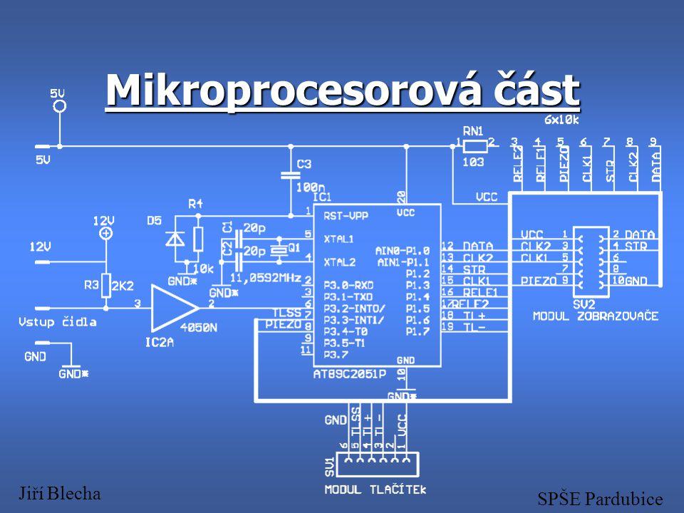 Mikroprocesorová část