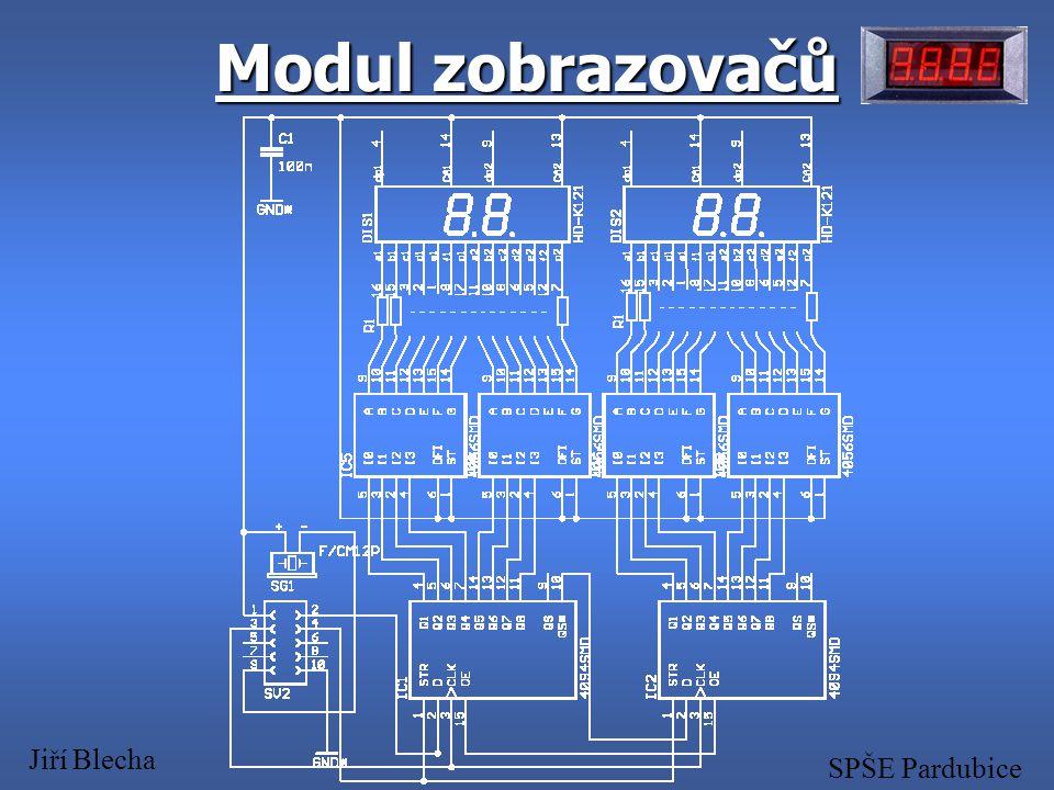 Modul zobrazovačů Jiří Blecha SPŠE Pardubice