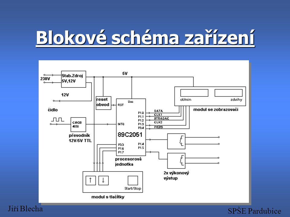 Blokové schéma zařízení