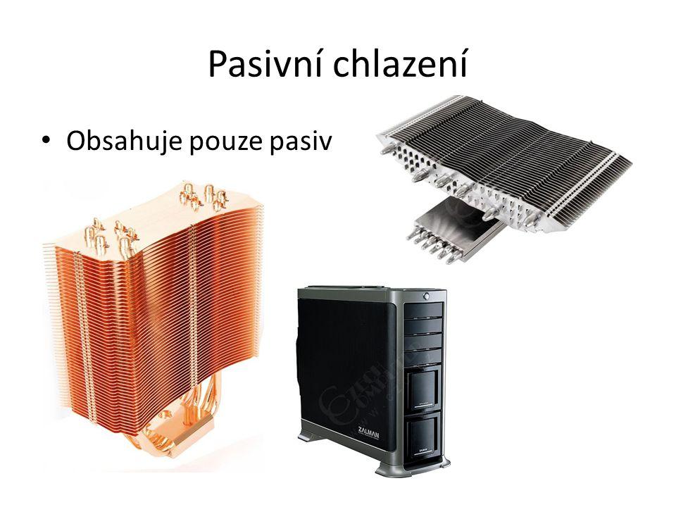 Pasivní chlazení Obsahuje pouze pasiv