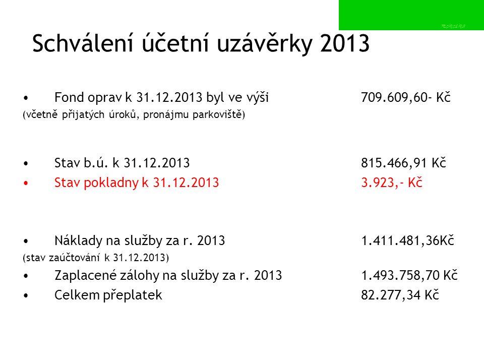 Schválení účetní uzávěrky 2013