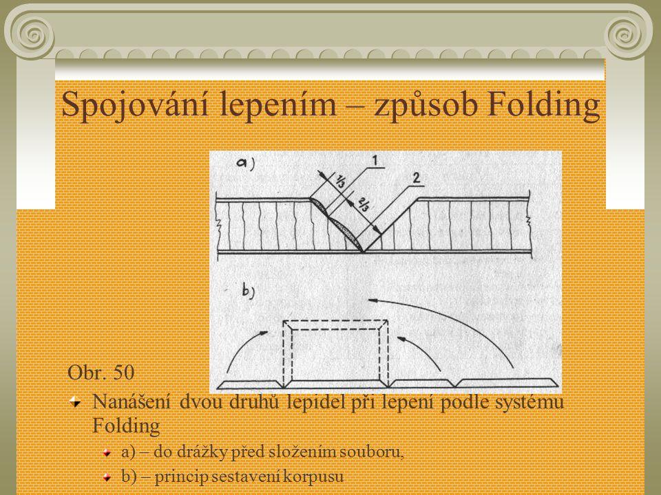 Spojování lepením – způsob Folding