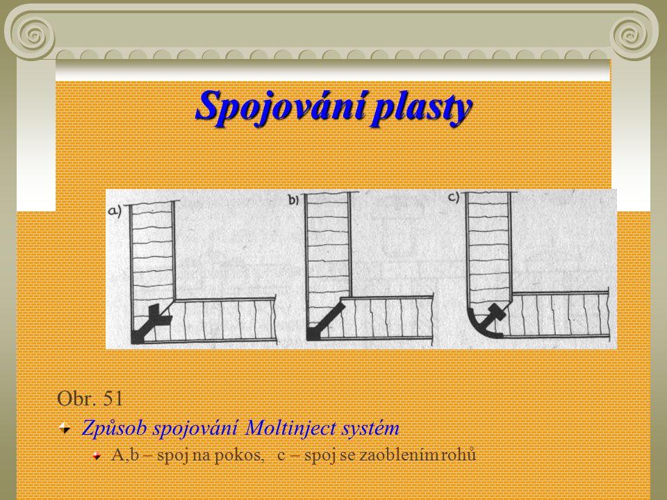 Spojování plasty Obr. 51 Způsob spojování Moltinject systém