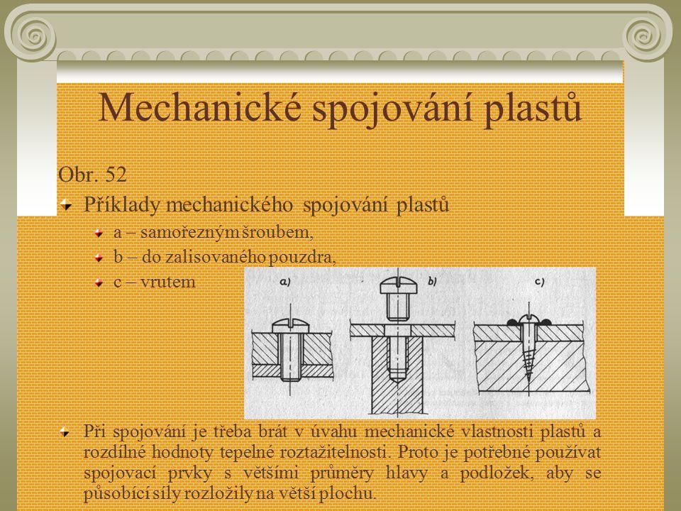 Mechanické spojování plastů