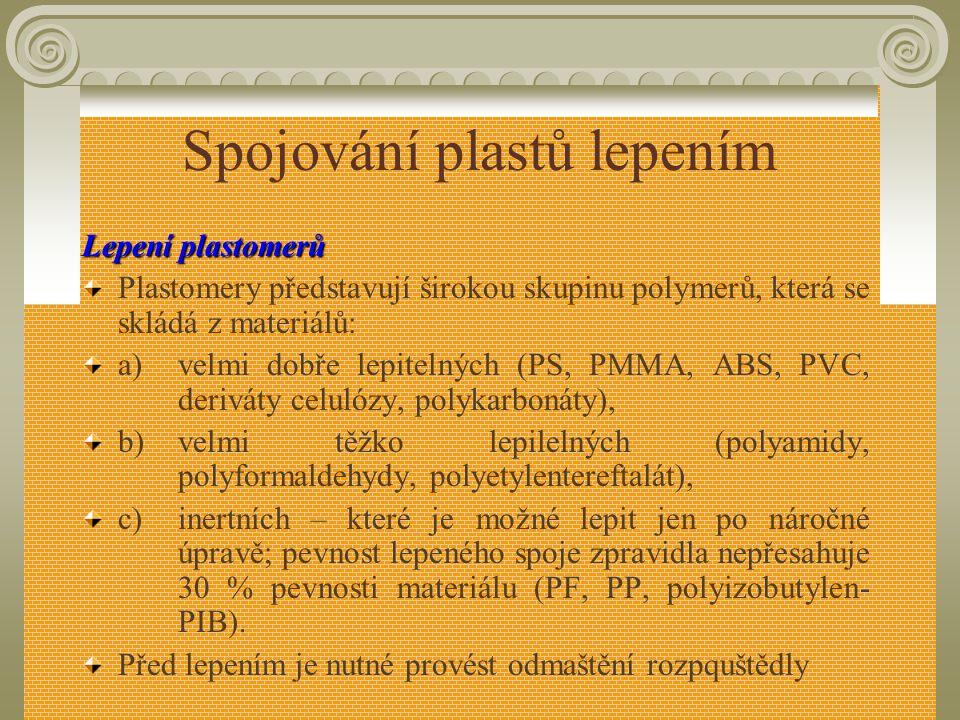 Spojování plastů lepením