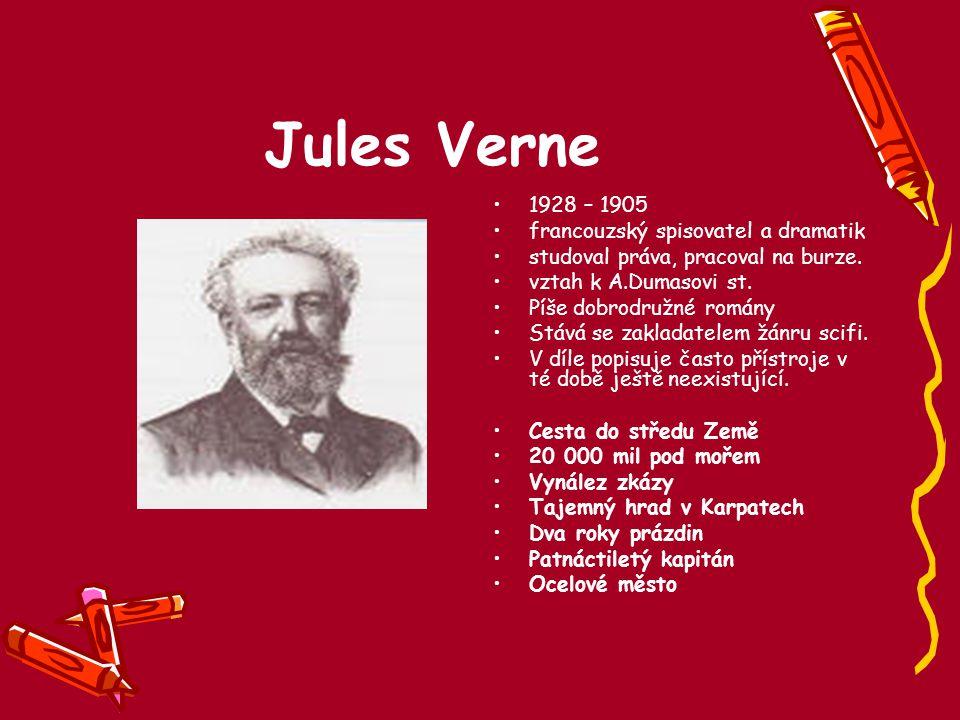 Jules Verne 1928 – 1905 francouzský spisovatel a dramatik