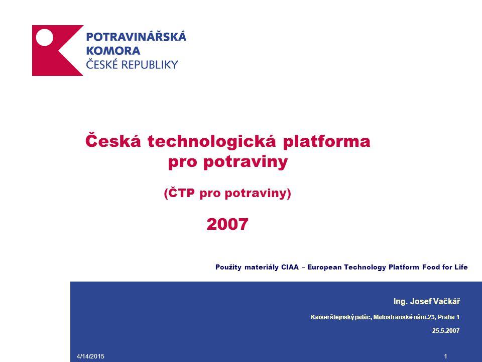 Česká technologická platforma pro potraviny (ČTP pro potraviny) 2007