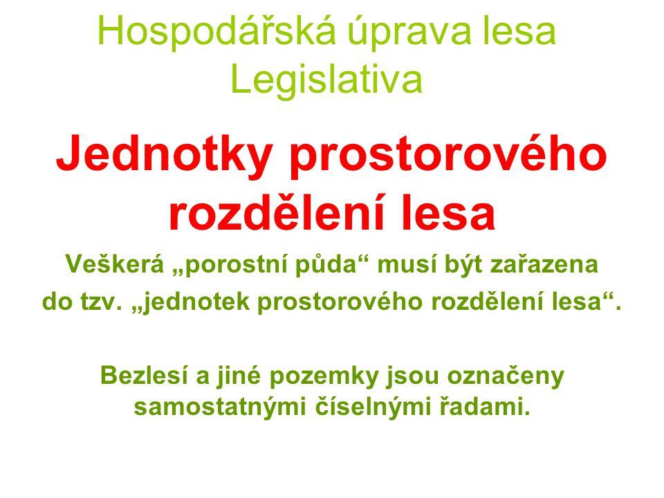 Hospodářská úprava lesa Legislativa