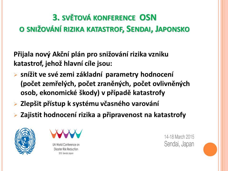 3. světová konference OSN o snižování rizika katastrof, Sendai, Japonsko