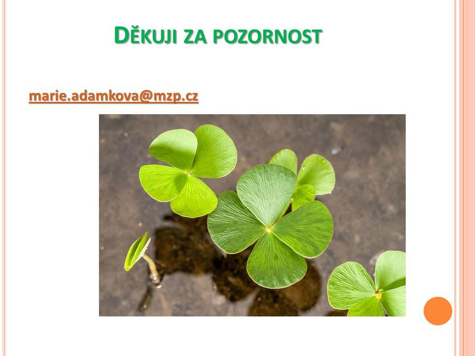 Děkuji za pozornost marie.adamkova@mzp.cz