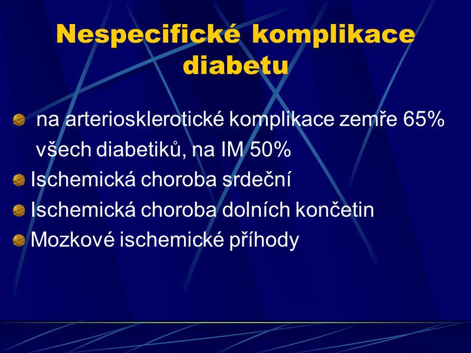 Nespecifické komplikace diabetu