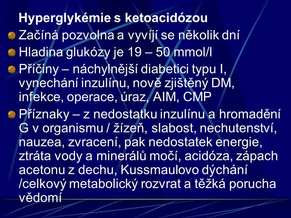 Hyperglykémie s ketoacidózou