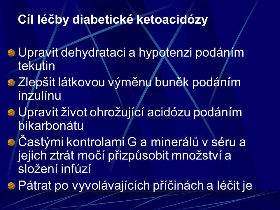 Cíl léčby diabetické ketoacidózy