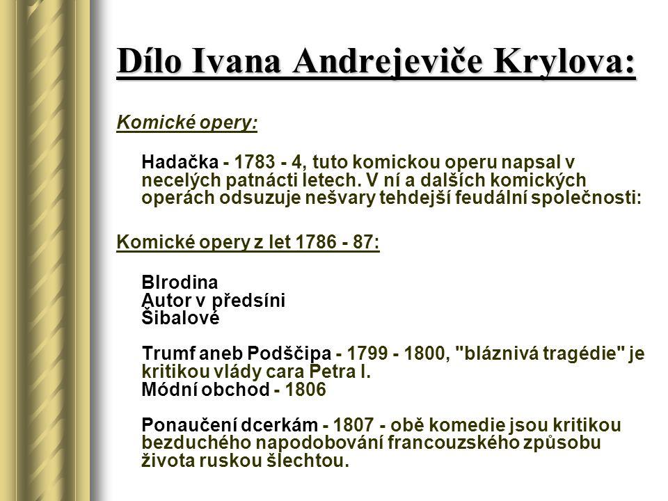 Dílo Ivana Andrejeviče Krylova: