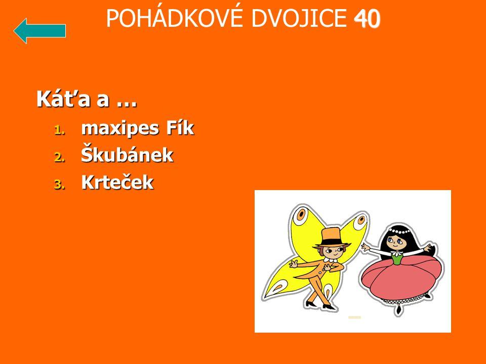 POHÁDKOVÉ DVOJICE 40 Káťa a … maxipes Fík Škubánek Krteček