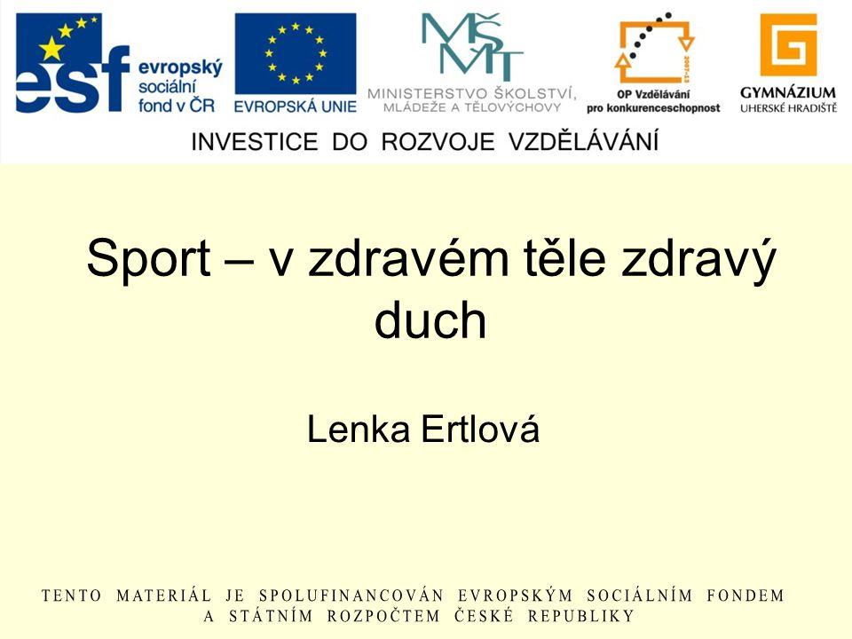 Sport – v zdravém těle zdravý duch