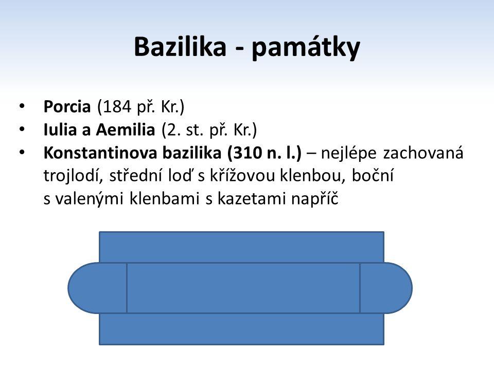 Bazilika - památky Porcia (184 př. Kr.)