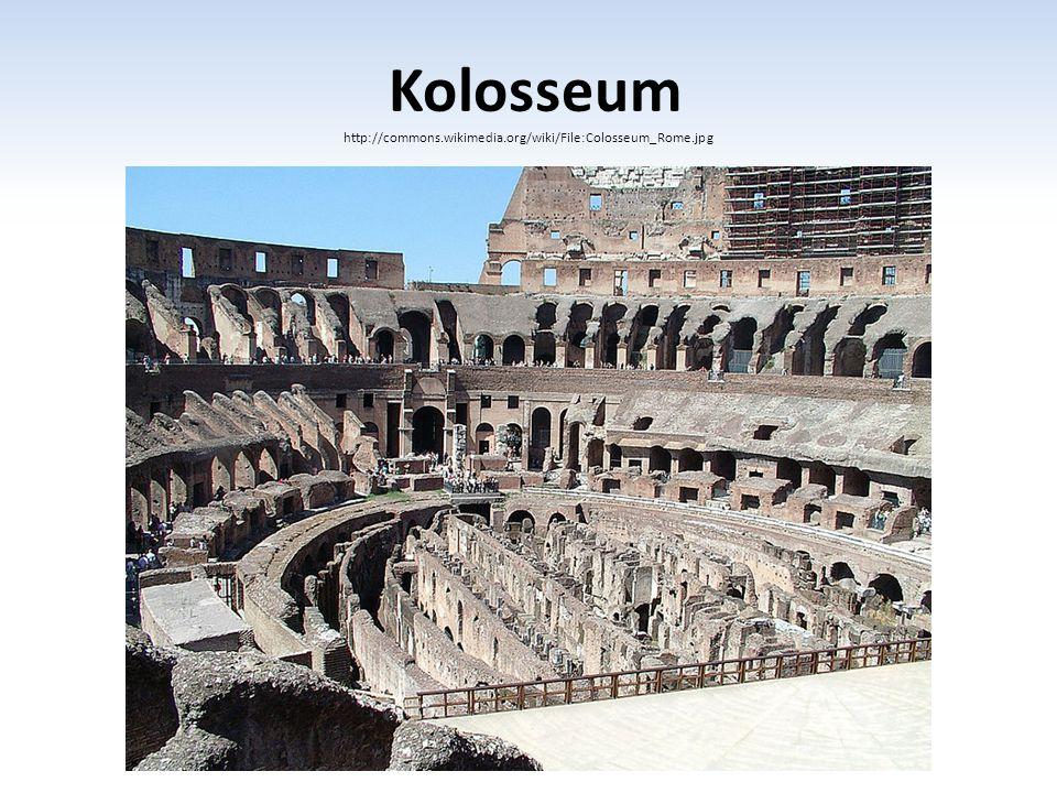 Kolosseum http://commons.wikimedia.org/wiki/File:Colosseum_Rome.jpg
