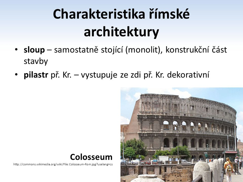 Charakteristika římské architektury