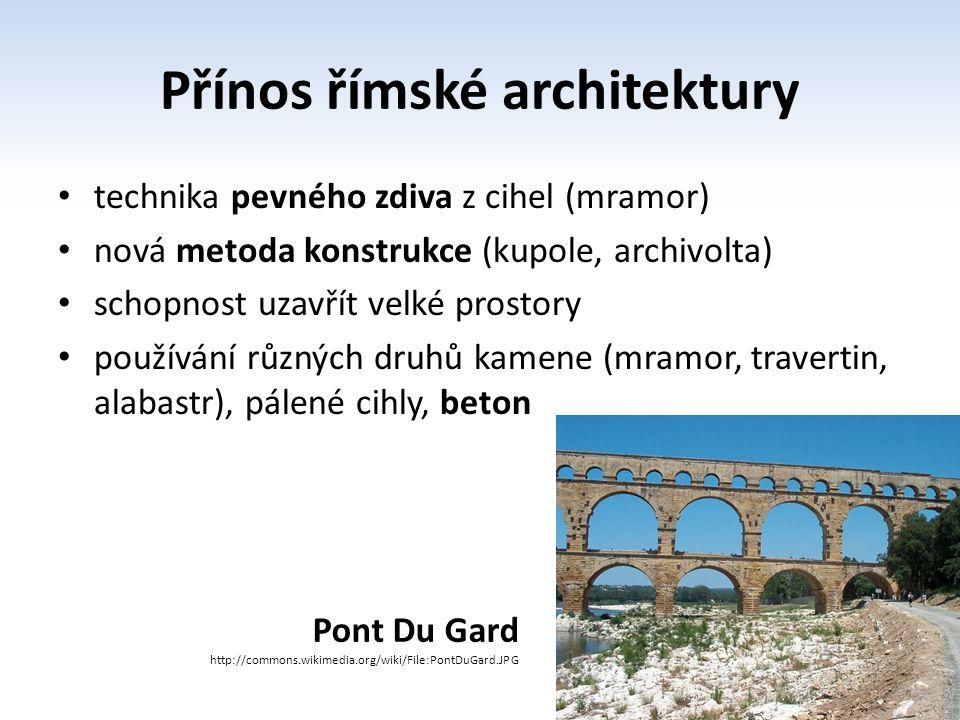 Přínos římské architektury