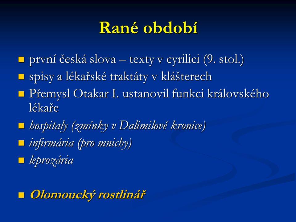 Rané období první česká slova – texty v cyrilici (9. stol.)