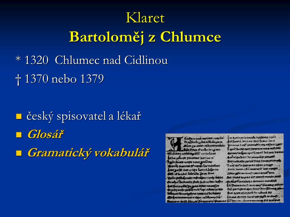 Klaret Bartoloměj z Chlumce