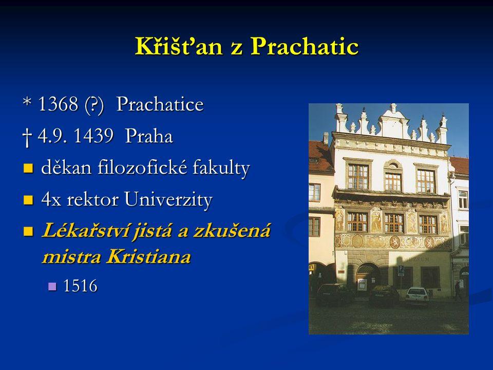Křišťan z Prachatic * 1368 ( ) Prachatice † 4.9. 1439 Praha