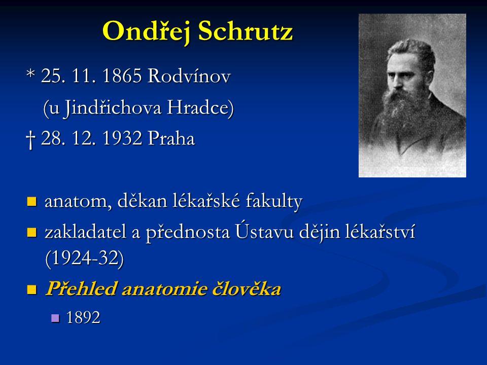 Ondřej Schrutz * 25. 11. 1865 Rodvínov (u Jindřichova Hradce)