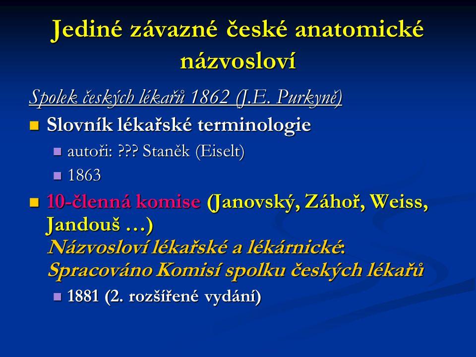 Jediné závazné české anatomické názvosloví