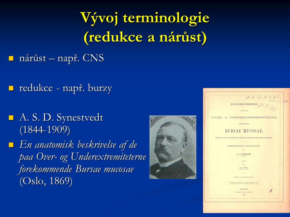 Vývoj terminologie (redukce a nárůst)
