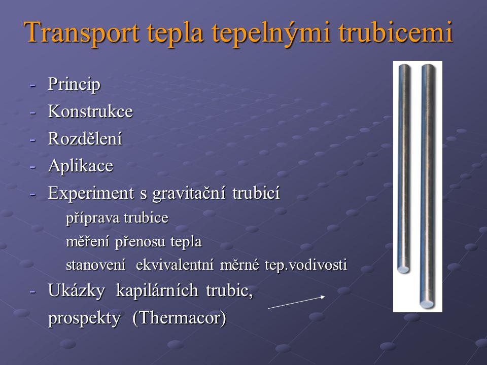 Transport tepla tepelnými trubicemi
