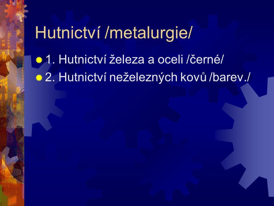 Hutnictví /metalurgie/