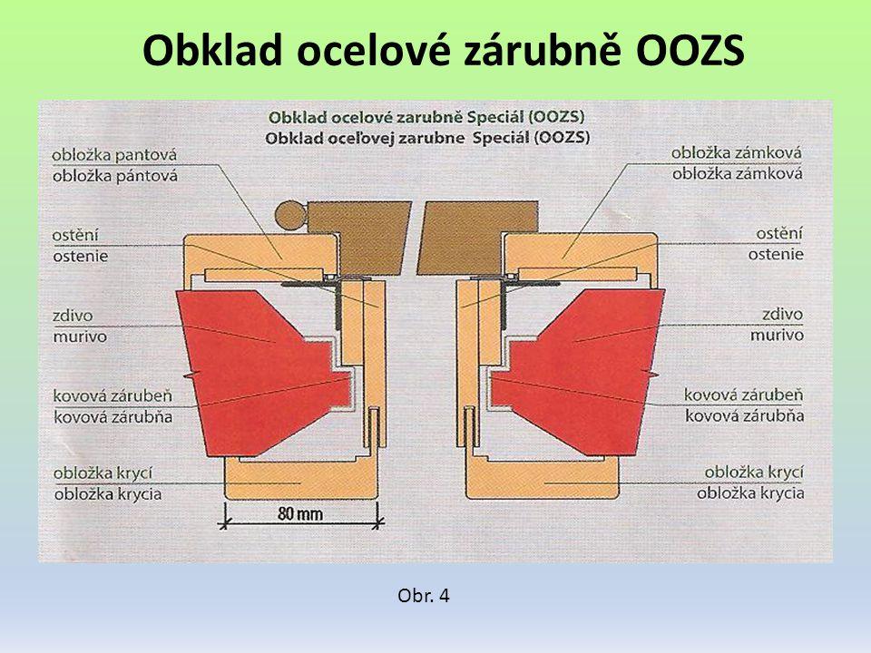 Obklad ocelové zárubně OOZS