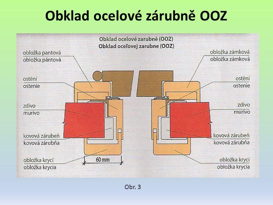 Obklad ocelové zárubně OOZ