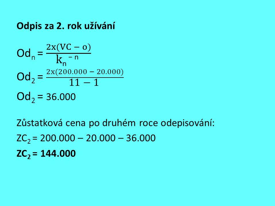 Odn = 2x(VC − o) kn − n Od2 = 2x(200.000 − 20.000) 11 − 1 Od2 = 36.000
